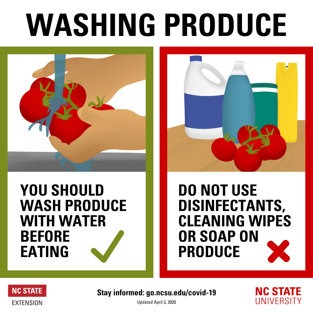 Washing produce flyer image